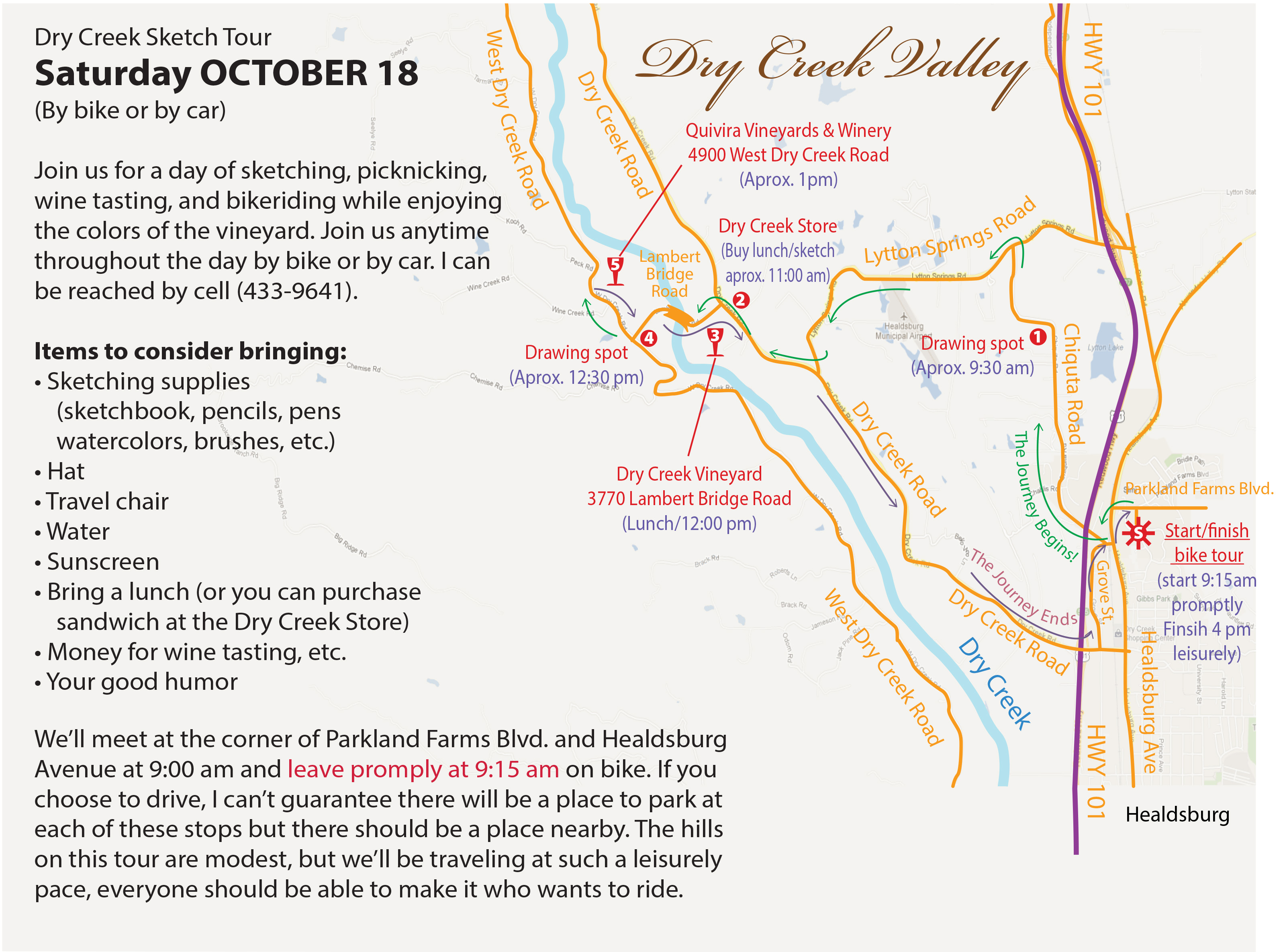 Dry Creek Valley Sketch Trip